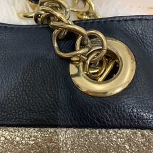 Cynthia Rowley Bags - Cynthia Rowley Large Leather striped shoulder bag